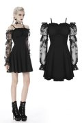 【DW390】Gothic sexy off-shoulder lacey sleeves dress / ワンピース【DARK IN LOVE】
