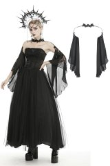 【BW080】Gorgeous tulle big sleeves halter cape / ボレロ【DARK IN LOVE】