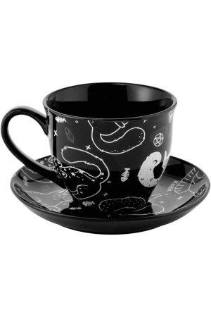 画像2: Catnap Teacup & Saucer / ティーカップセット【KILL STAR】