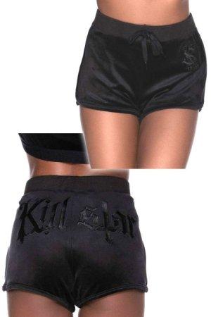 画像1: Dee-Lux Velvet Shorts / BLACK / ルームウェア【KILL STAR】